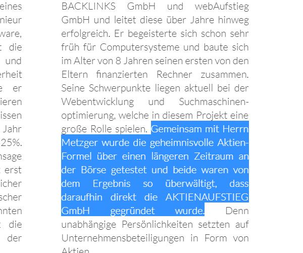 Aktienaufstieg.de Analyse